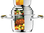 ACTS AS A LID, INCREASES POT VOLUME, NEW HEAT SOURCE, 3 MEALS AT THE SAME TIME